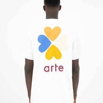 arte tomi back trevo tee - white