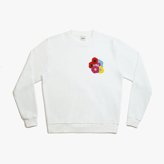 arte colson multi flower sweat - white