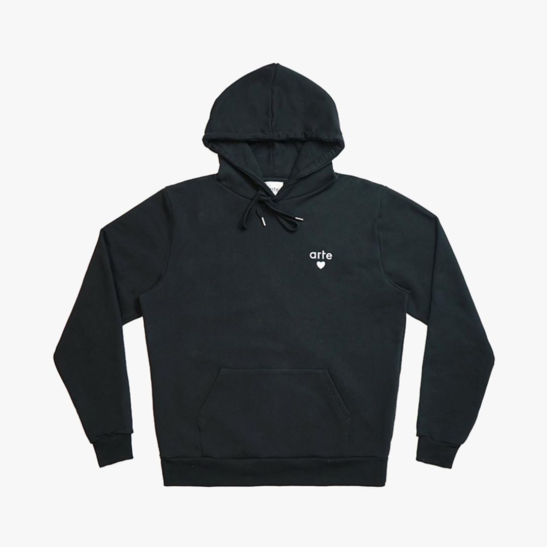 arte holden heart hoodie - black