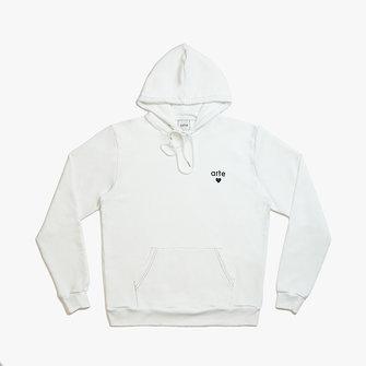 arte holden heart hoodie - white