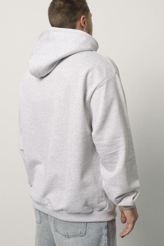 drôle de monsieur drôle embroidered hoodie - grey