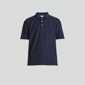 nn07 alfons 3370 polo - navy blue