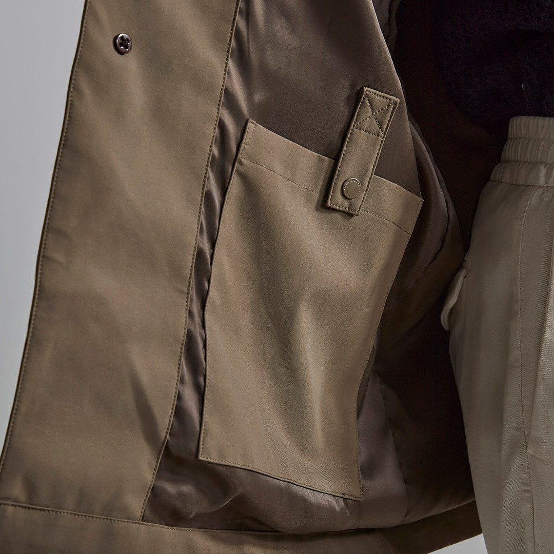 nn07 kim 8240 coat - khaki grey