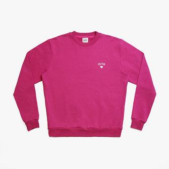 arte colson heart sweat - pink