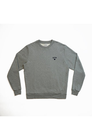 arte colson heart sweat - grey