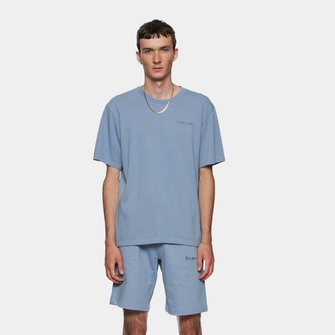 filling pieces essential core logo shorts - light blue