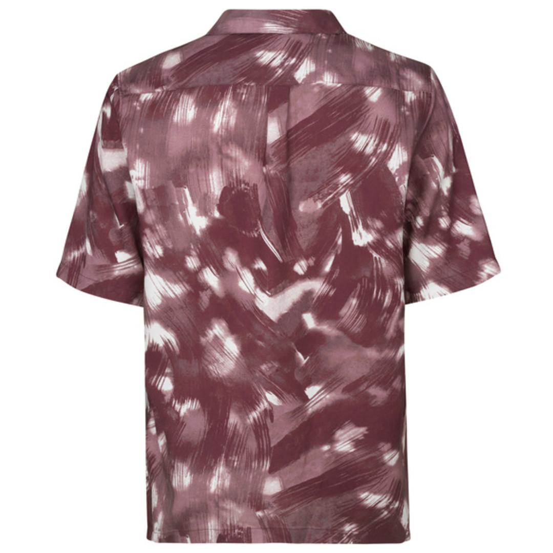 samsoe samsoe oscar ax 10527 aop shirt - sparrow brush
