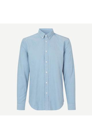 samsoe samsoe liam bx 11039 shirt - dusty blue