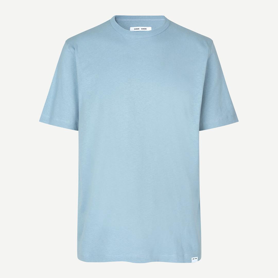 samsoe samsoe hugo 11415 ss tshirt - dusty blue