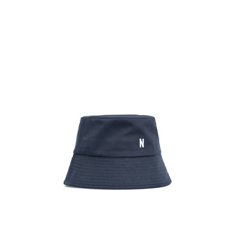 norse projects twill bucket hat - dark navy