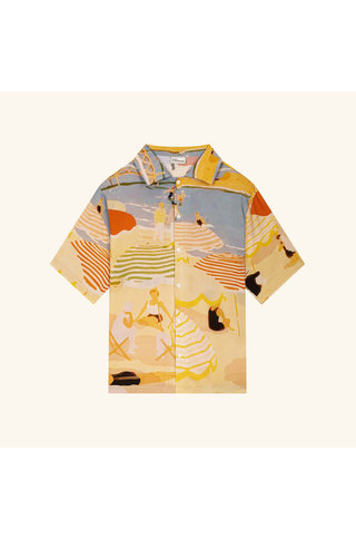 drôle de monsieur riviera beach shirt - beige