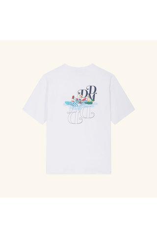drôle de monsieur pique-nique graphic tshirt - white