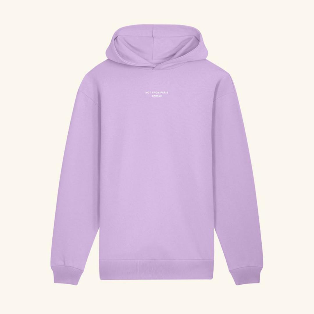 drôle de monsieur not from paris madame hoodie - purple