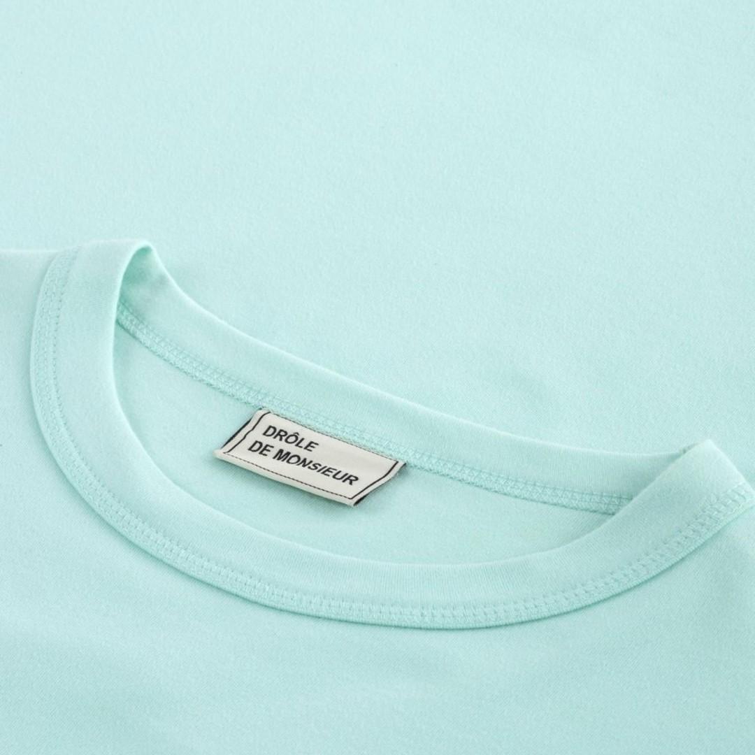 drôle de monsieur logo classic tshirt - light green