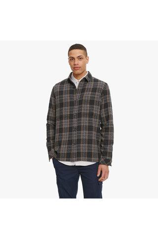 samsoe samsoe waltones o 11703 overshirt - black check
