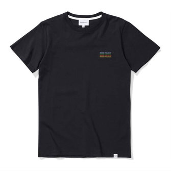 norse projects niels logo stack ss tshirt - dark navy