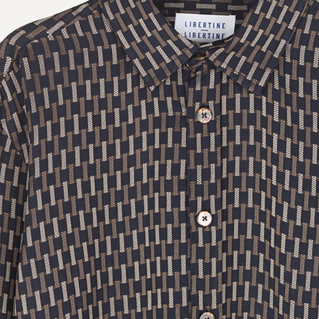 libertine libertine babylon 2034 shirt - brown check