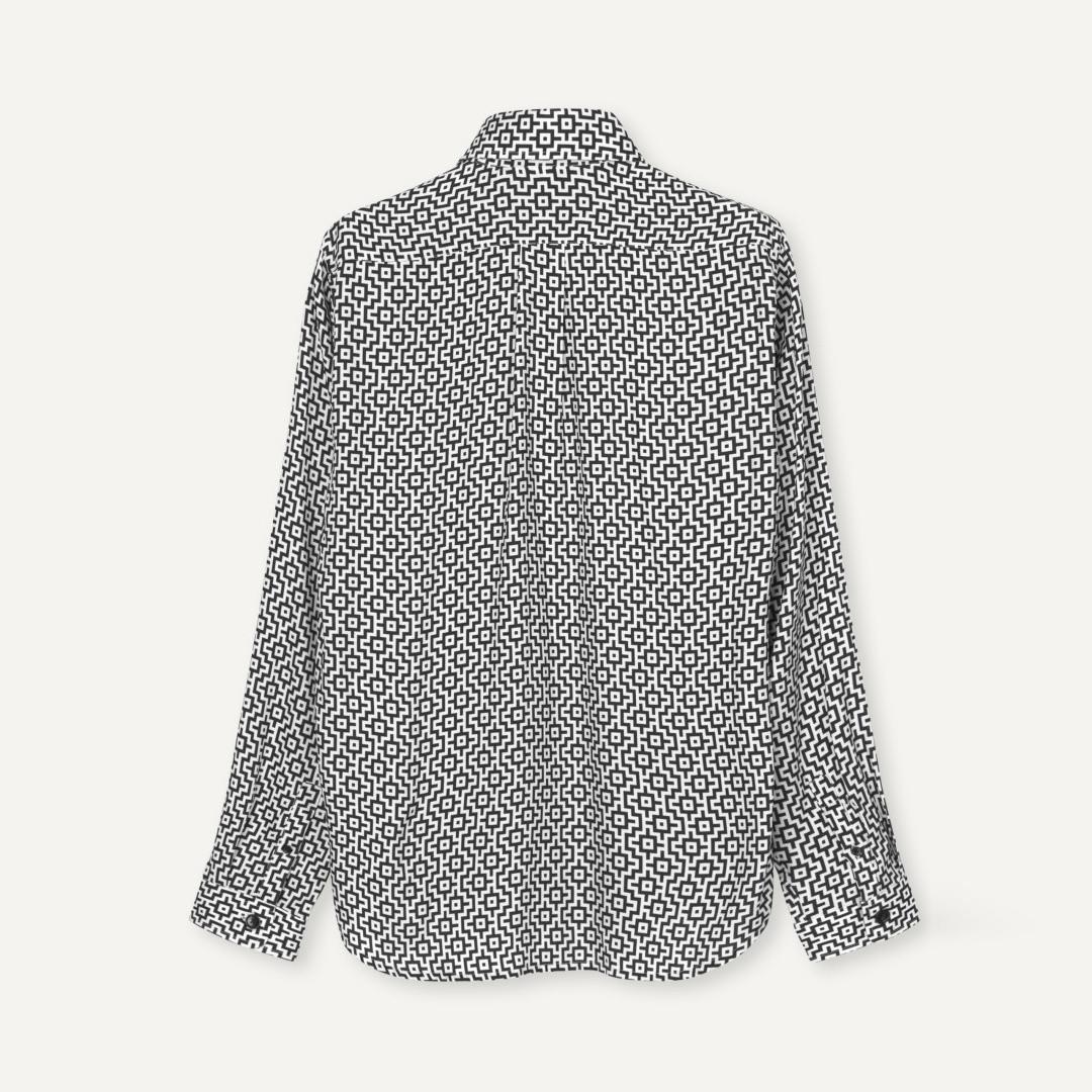 libertine libertine babylon 2066 shirt - black white
