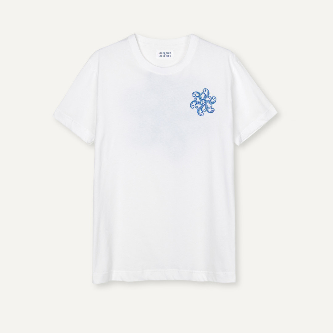 libertine libertine beat arms 1868 tees - white