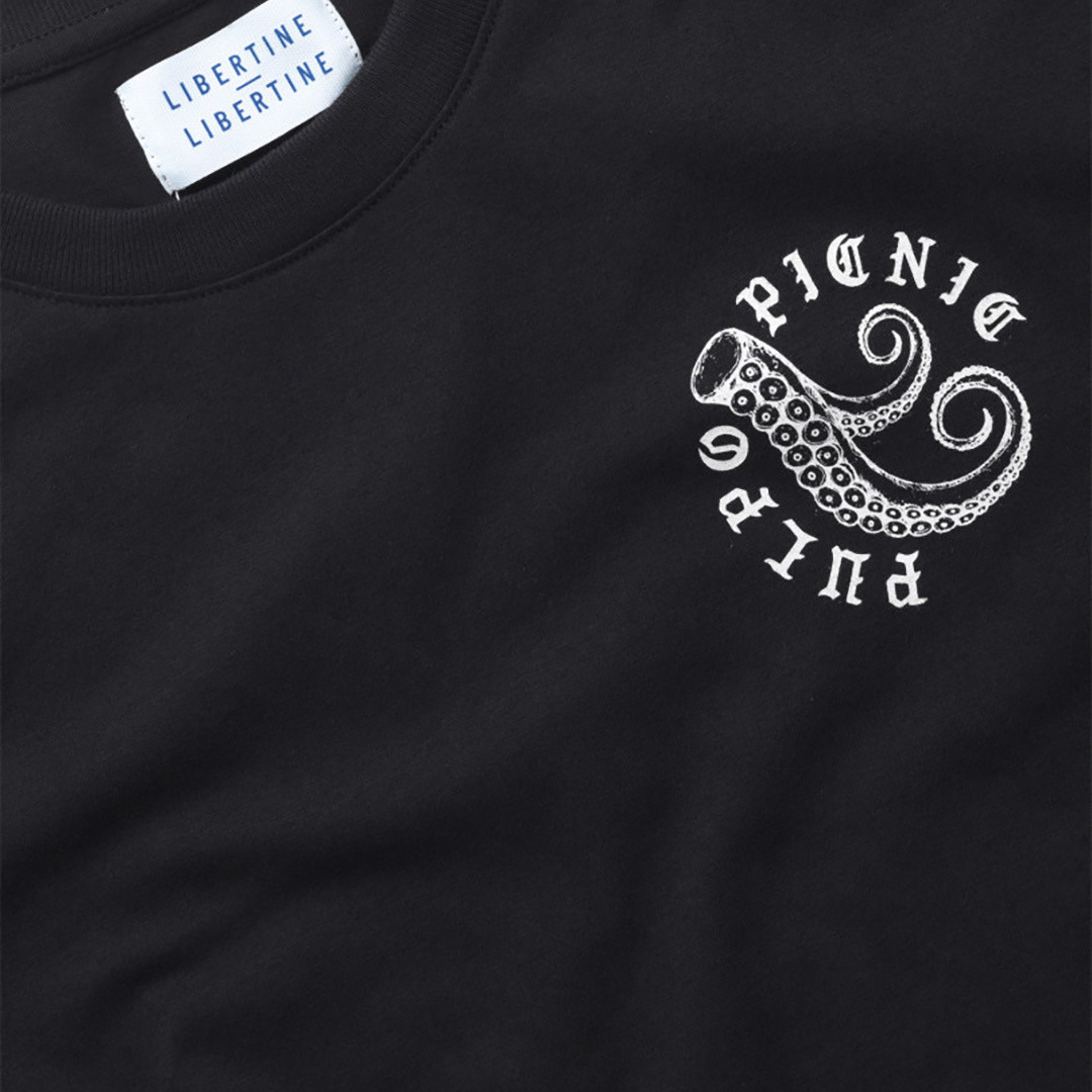 libertine libertine beat pulpo picnic 1868 tees - black