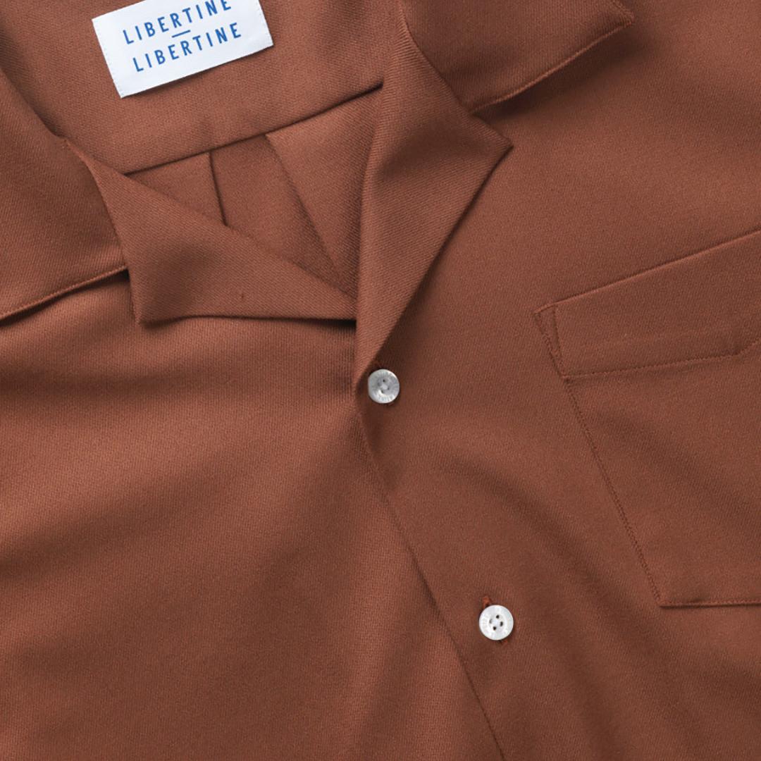 libertine libertine cave 2028 ss shirt - oak
