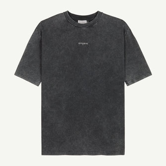 ampère august tee washed - acid black
