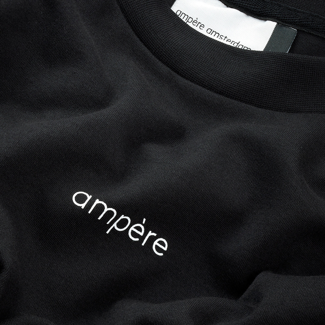 ampère henri long sleeve - black