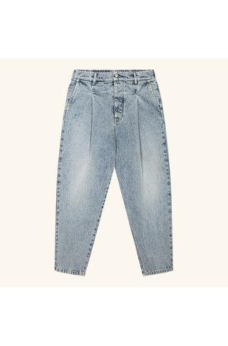 drôle de monsieur cropped denim pants - blue