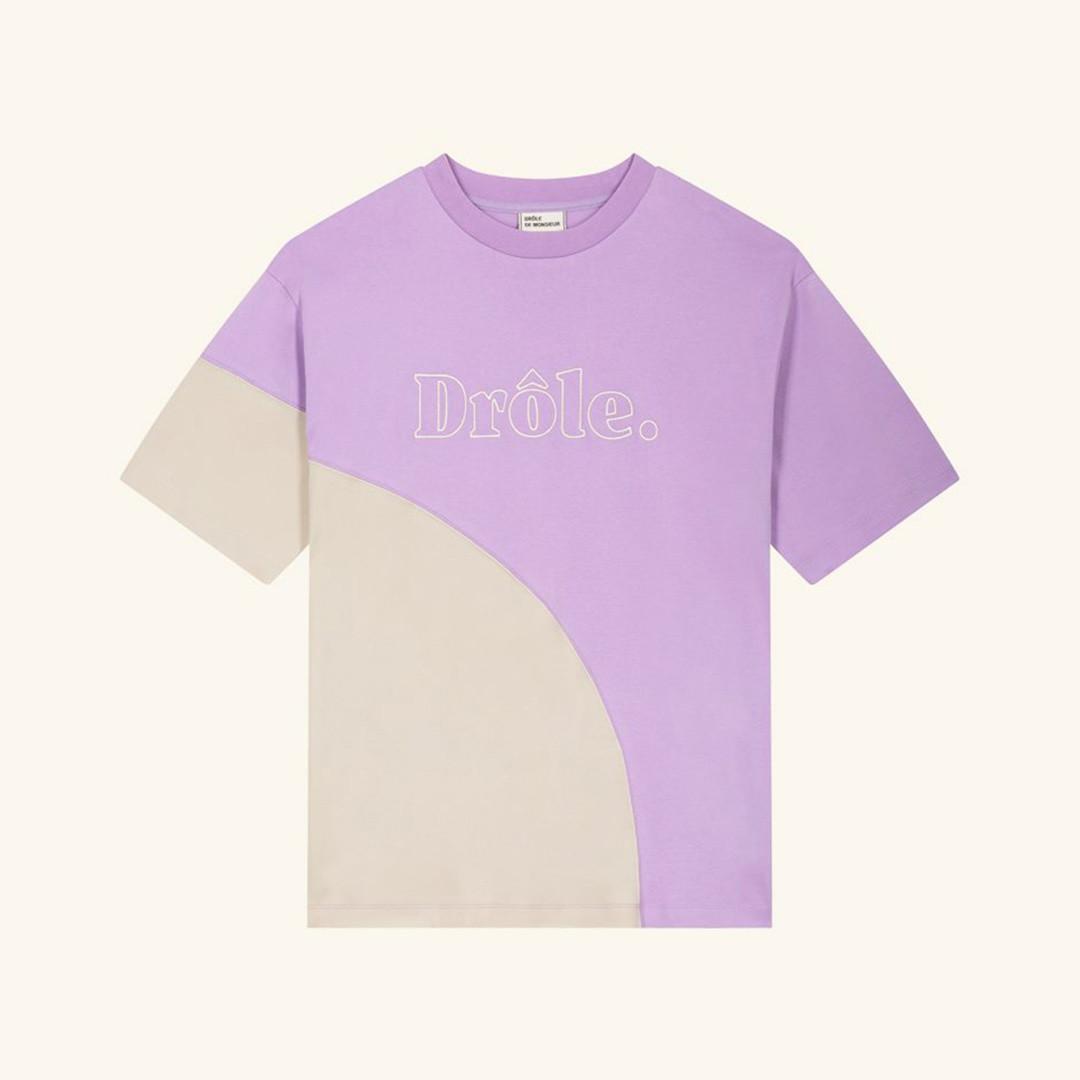 drôle de monsieur drôle embroidered tee - purple