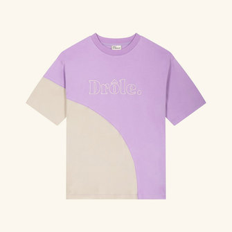drôle de monsieur drôle embroidered tee - purple
