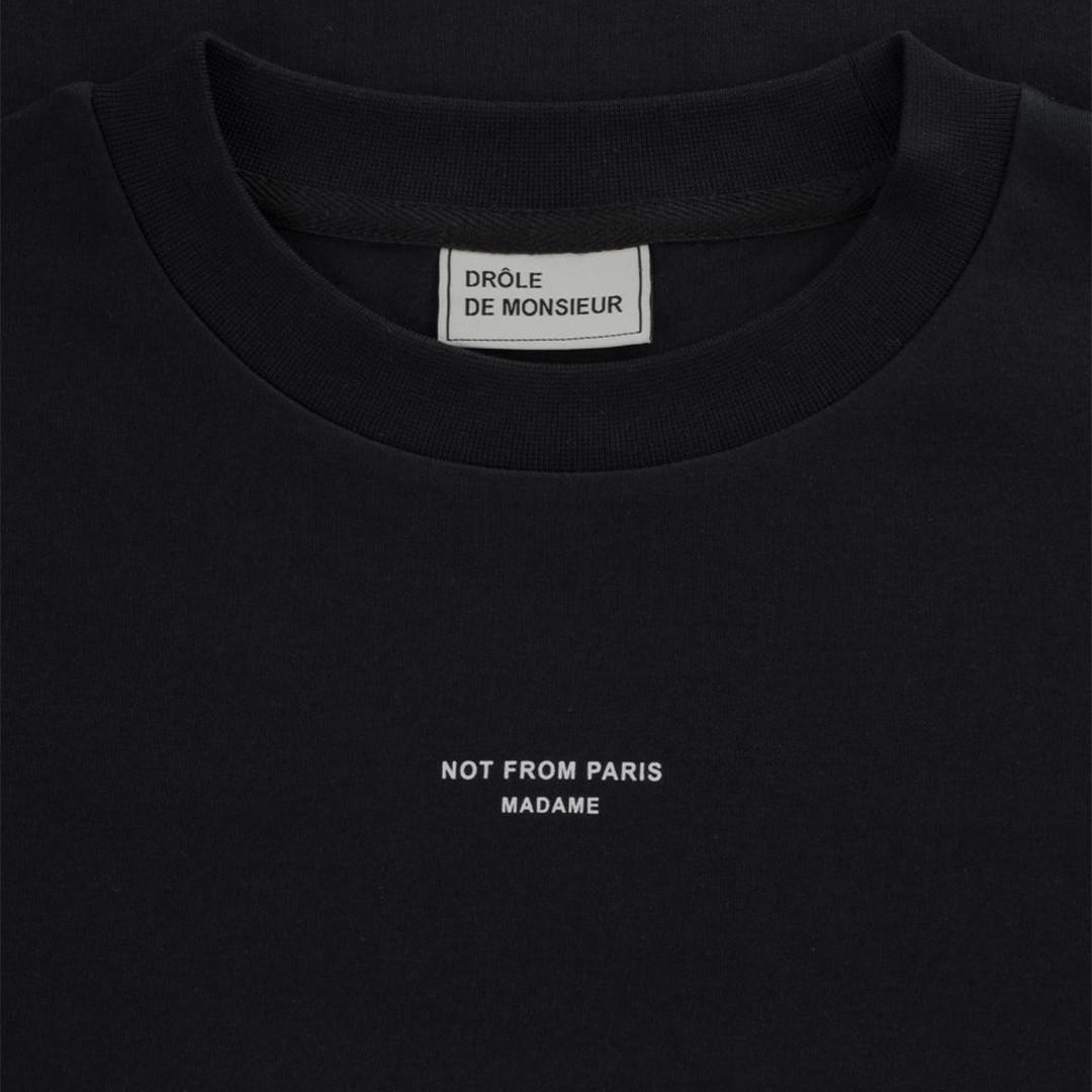 drôle de monsieur not from paris madame t-shirt - black