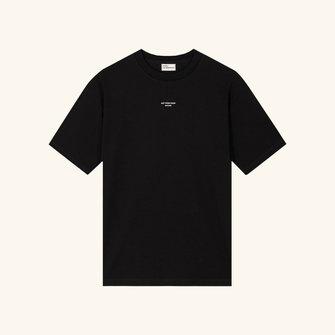 drôle de monsieur pocket tshirt loose fit - black