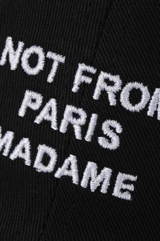 drôle de monsieur drôle slogan cap - black