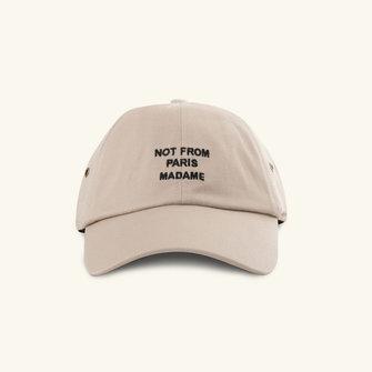 drôle de monsieur drôle slogan cap - beige