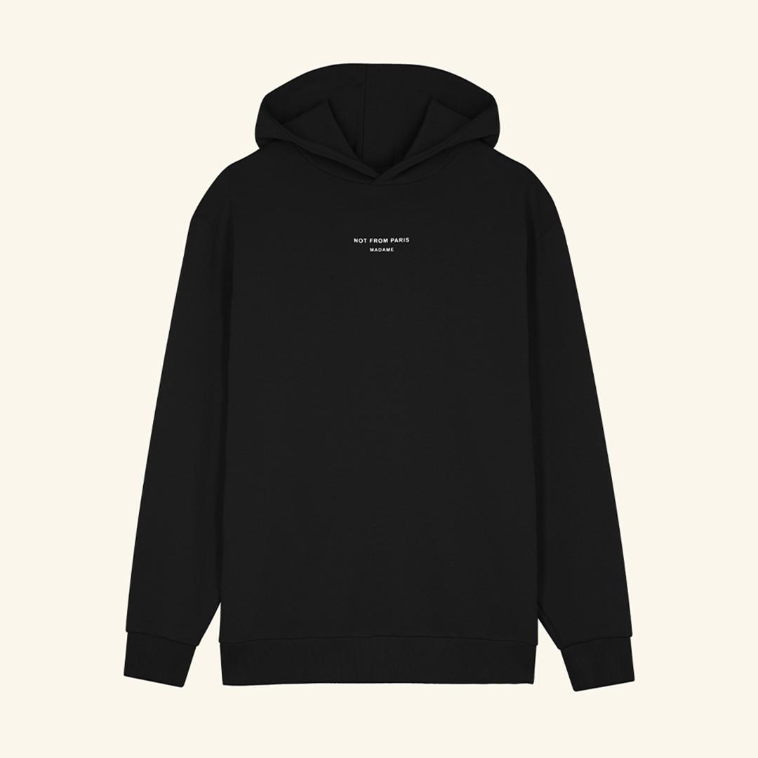drôle de monsieur not from paris madame hoodie - black