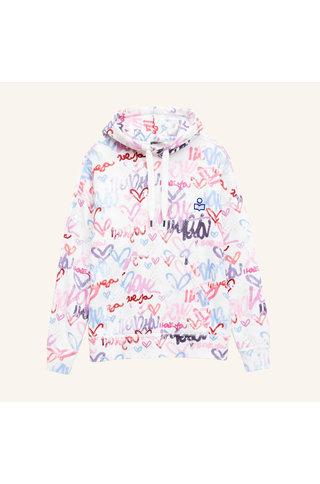 isabel marant viley graffity hoodie - multi color