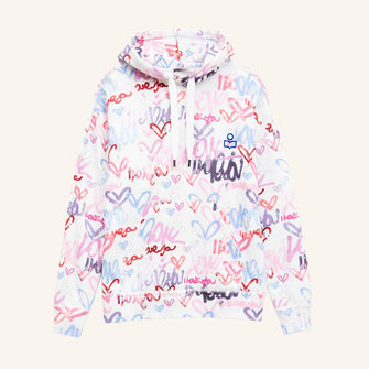 isabel marant viley graffity sweat - multi color