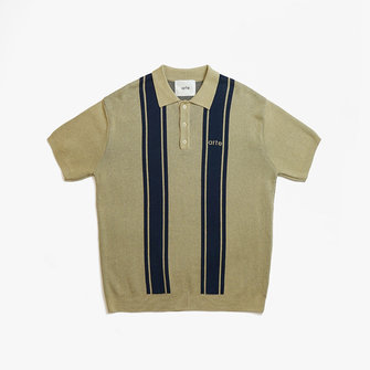 arte pete polo - creme navy