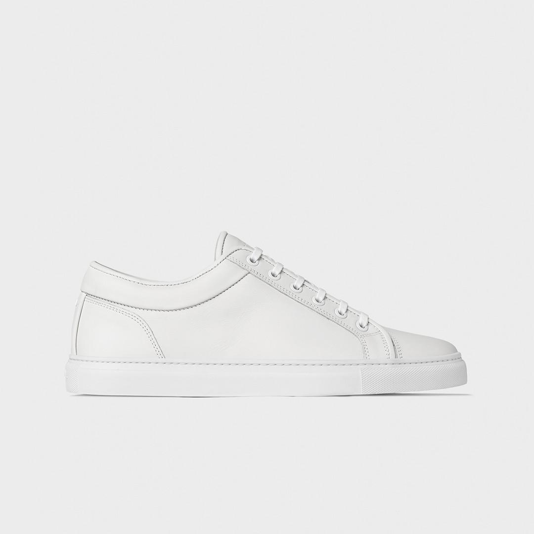 etq amsterdam lt01. premium suede leather sneaker - white