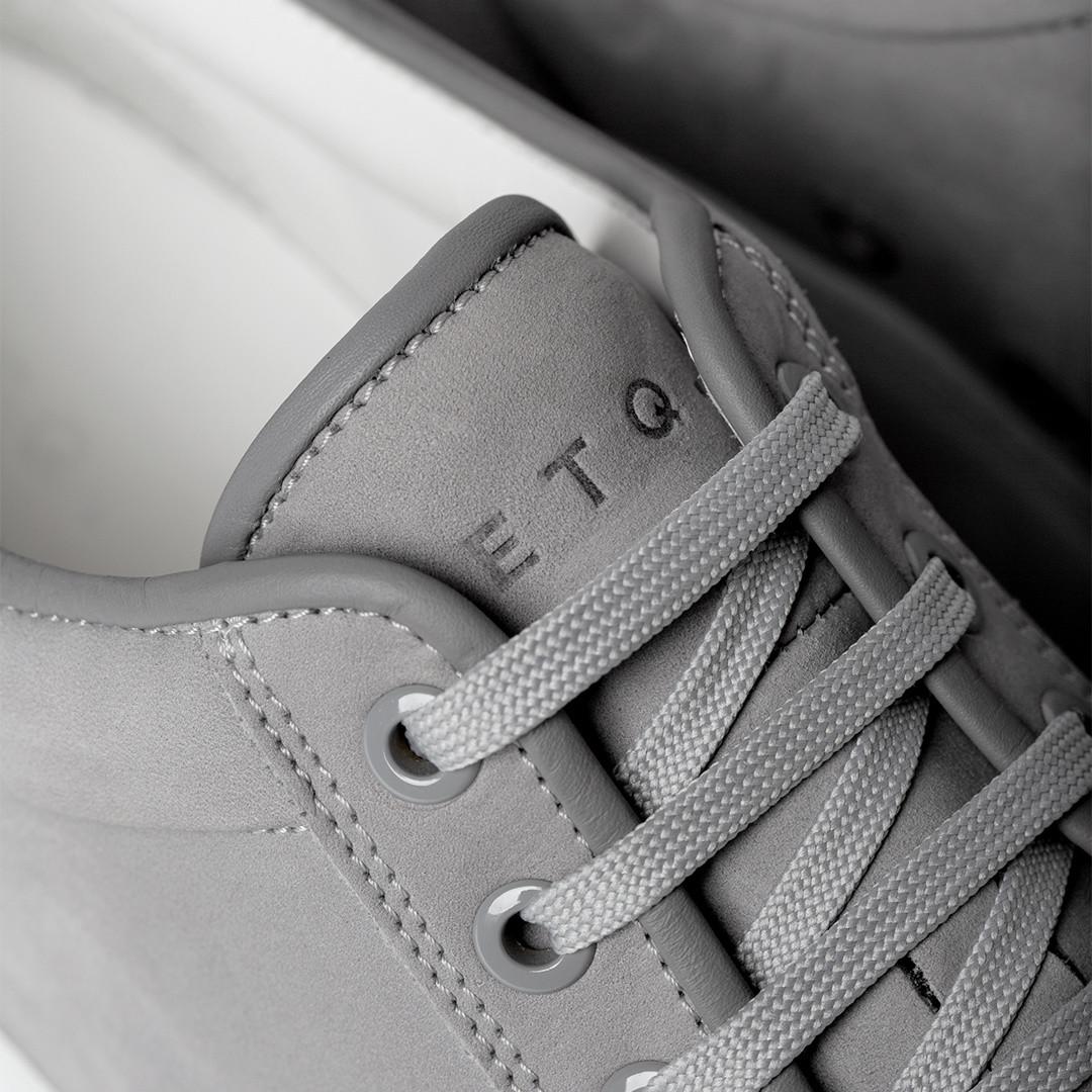 etq amsterdam lt01. nubuck leather sneaker - alloy