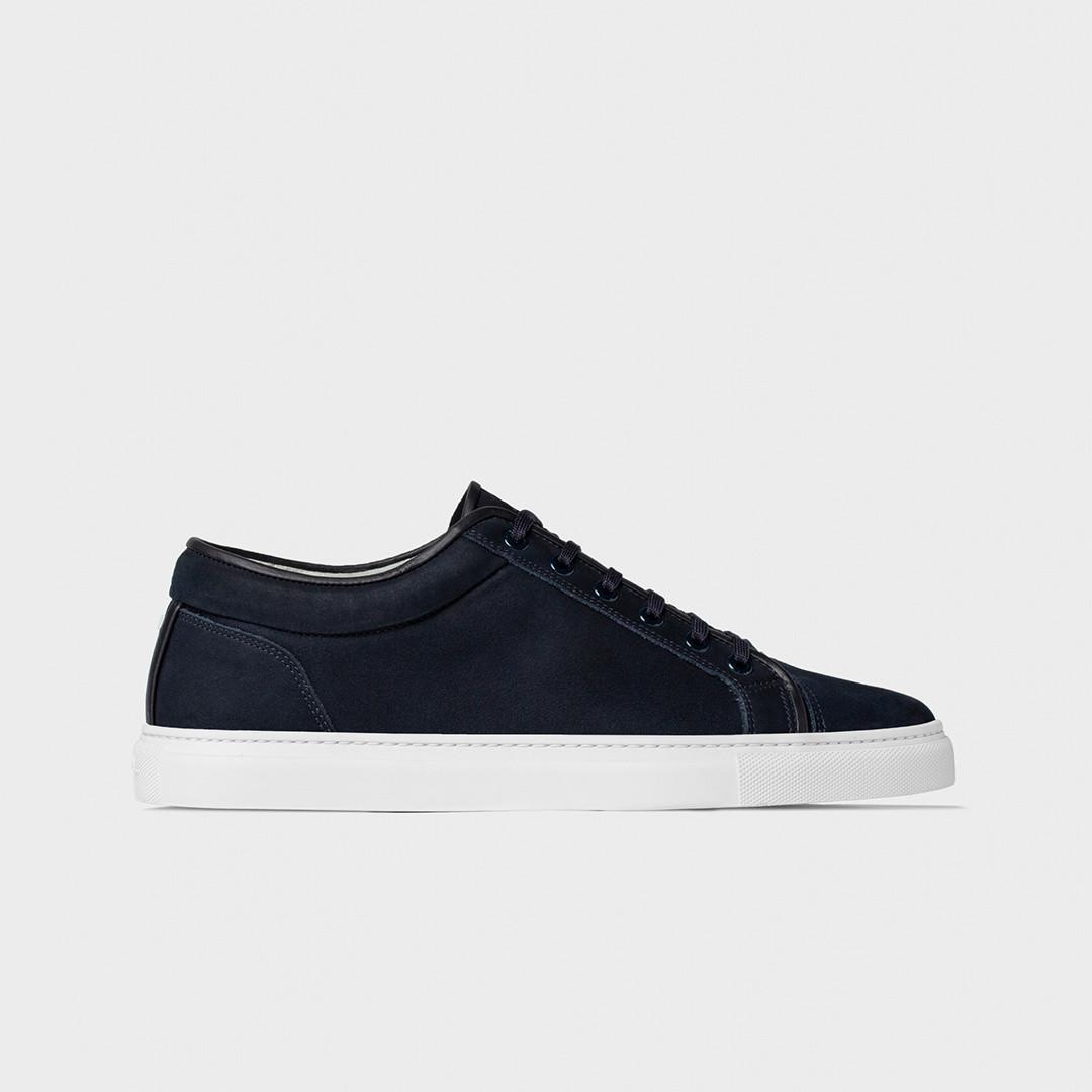 etq amsterdam lt01. nubuck leather sneaker - blueberry