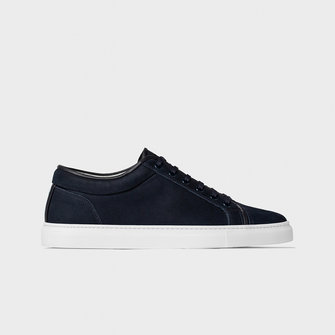 etq amsterdam lt01. nubuck leather sneaker - blueberry