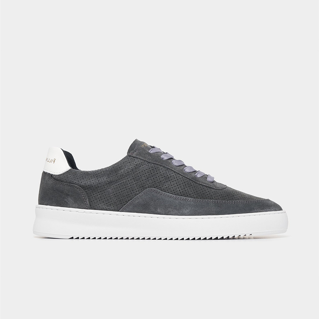 filling pieces mondo perforated sneaker - dark grey