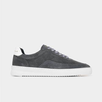 filling pieces mondo perforated sneaker - dark grey