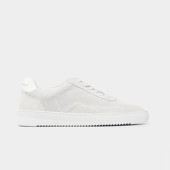 filling pieces mondo perforated sneaker - white