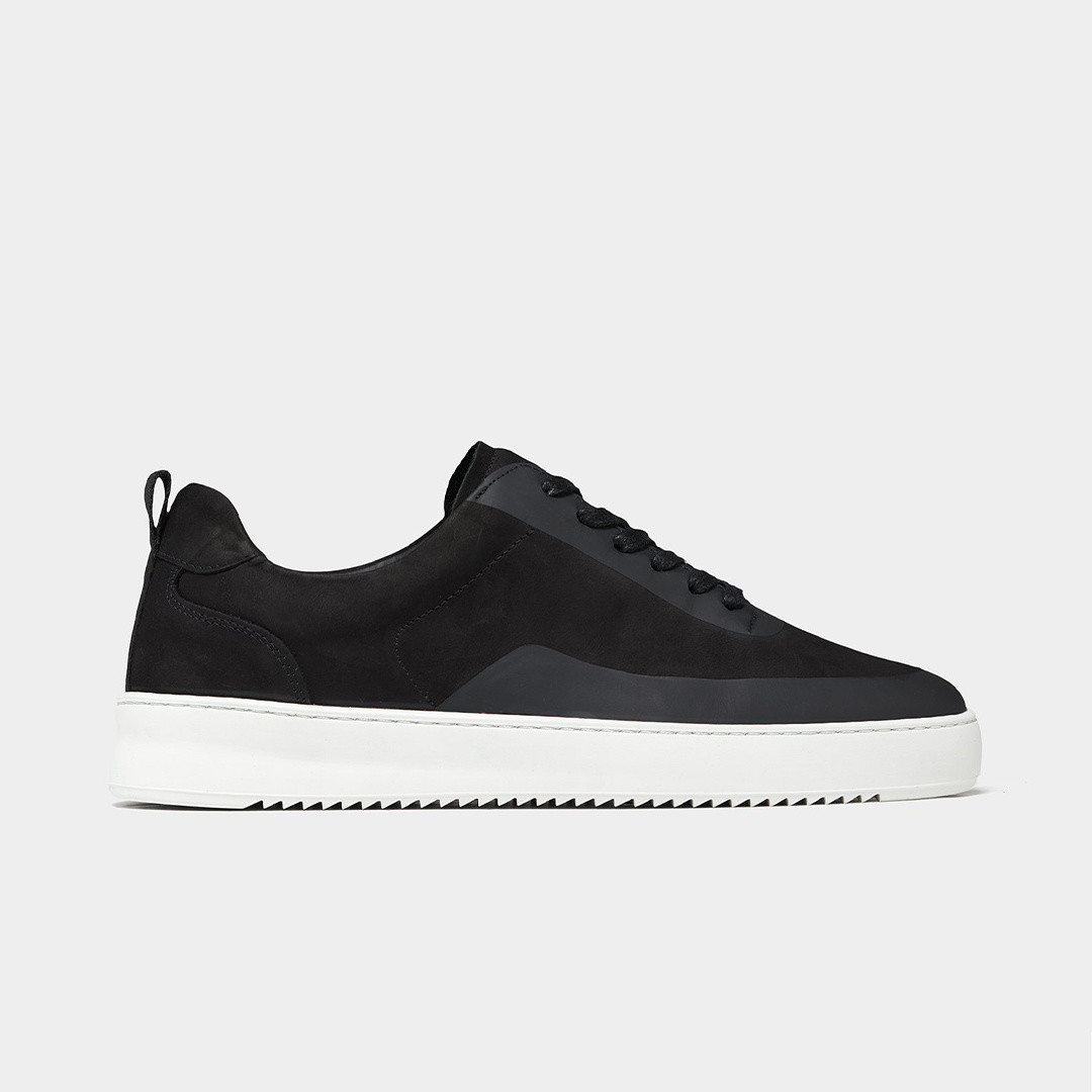 filling pieces mondo 2.0 ripple sneaker - steam black