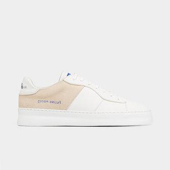 filling pieces low plain court 683 sneaker - organic white
