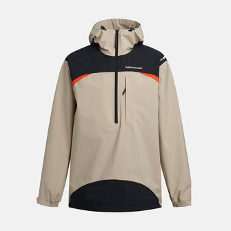 peak performance stowaway anorak - celsian beige-black