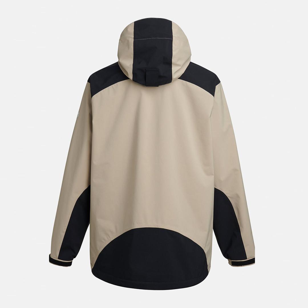 peak performance stowaway anorak - celsian beige-black