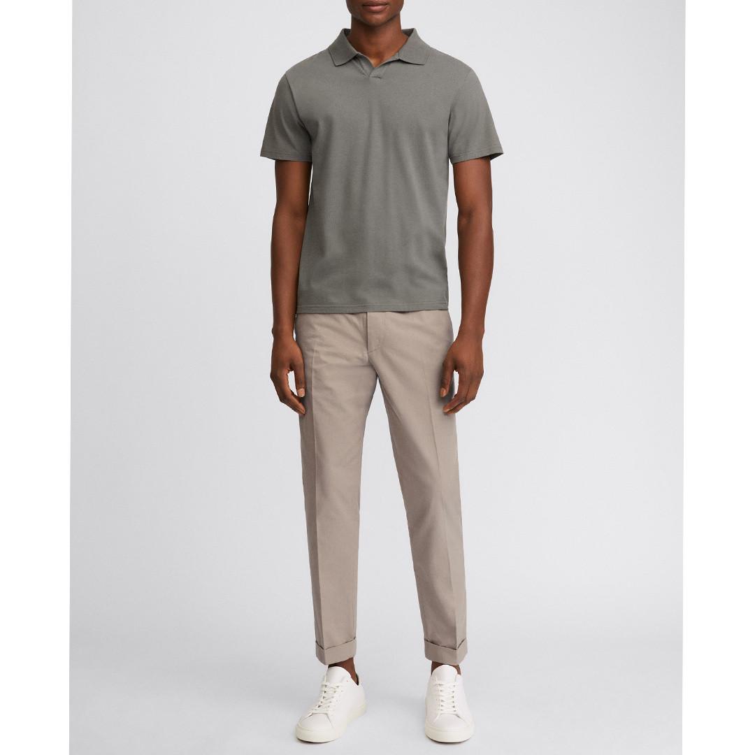 filippa k lycra ss polo shirt - green grey